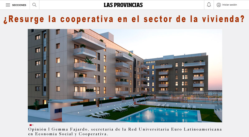 ¿Resurge la cooperativa en el sector de la vivienda?