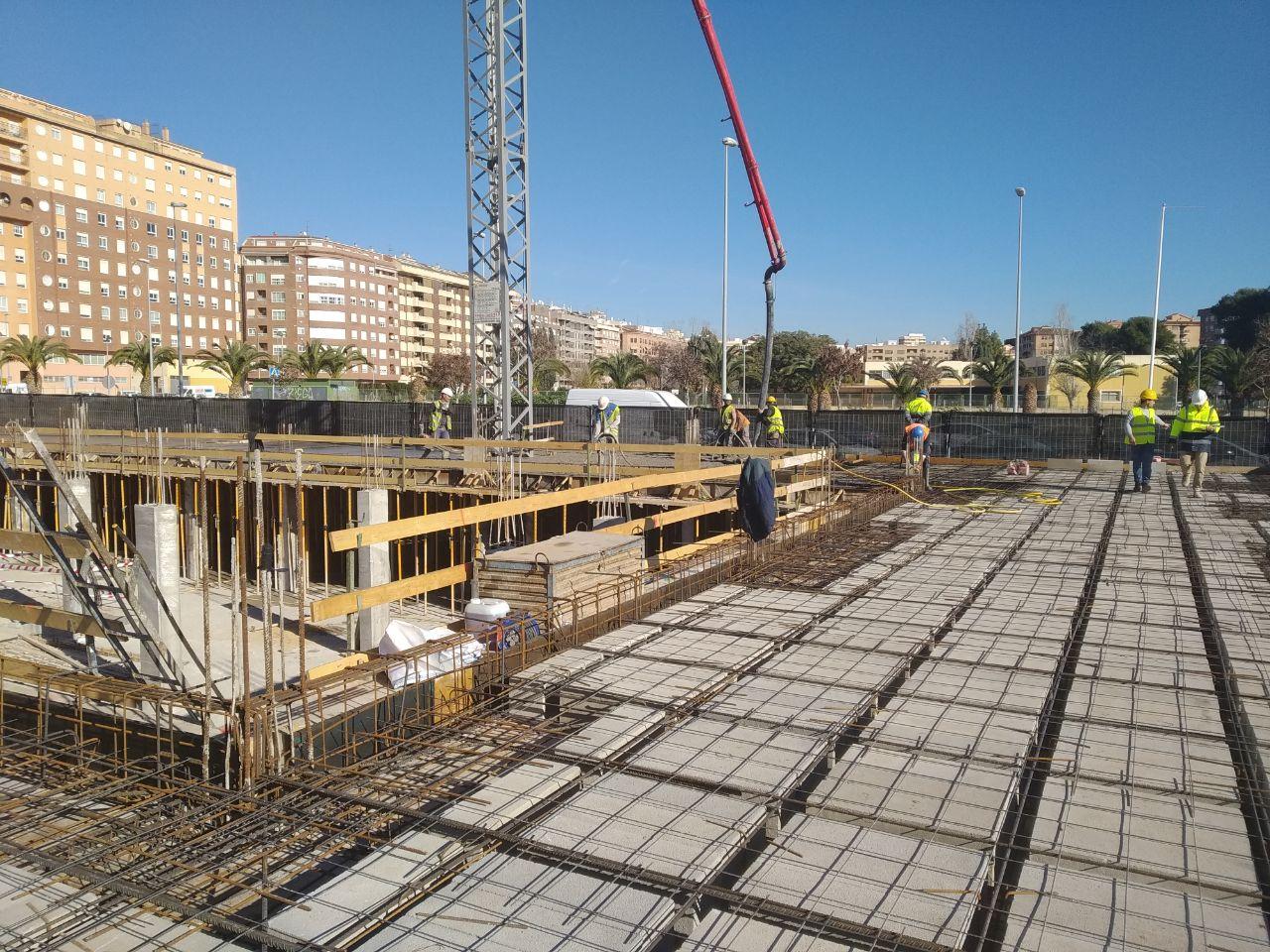 Las obras de Sensal Parc I alcanzan la cota 0 Ya se está trabajando a pie de calle permitiendo incrementar la velocidad de construcción