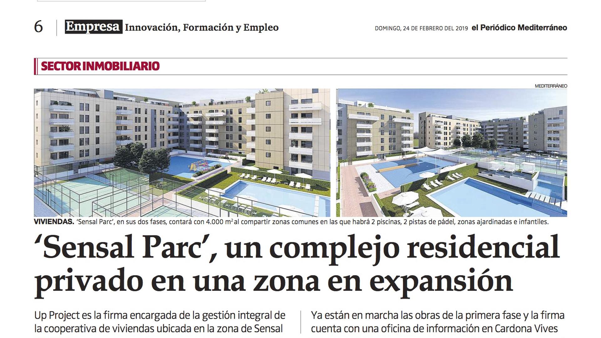 'Sensal Parc', un complejo residencial privado en una zona en expansión